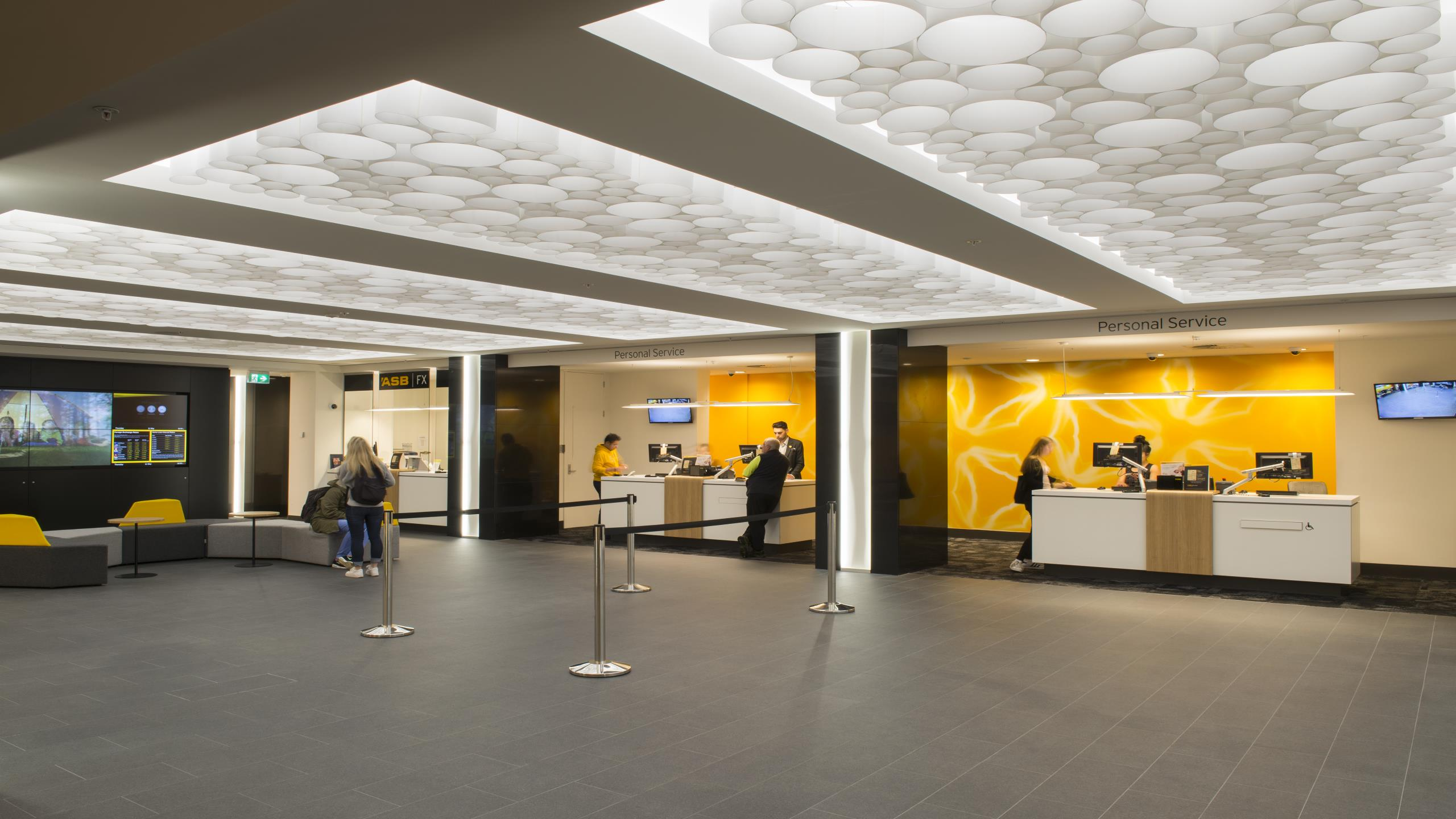 ASB Queen Street Branch - AO-Gami acoustic lantern feature