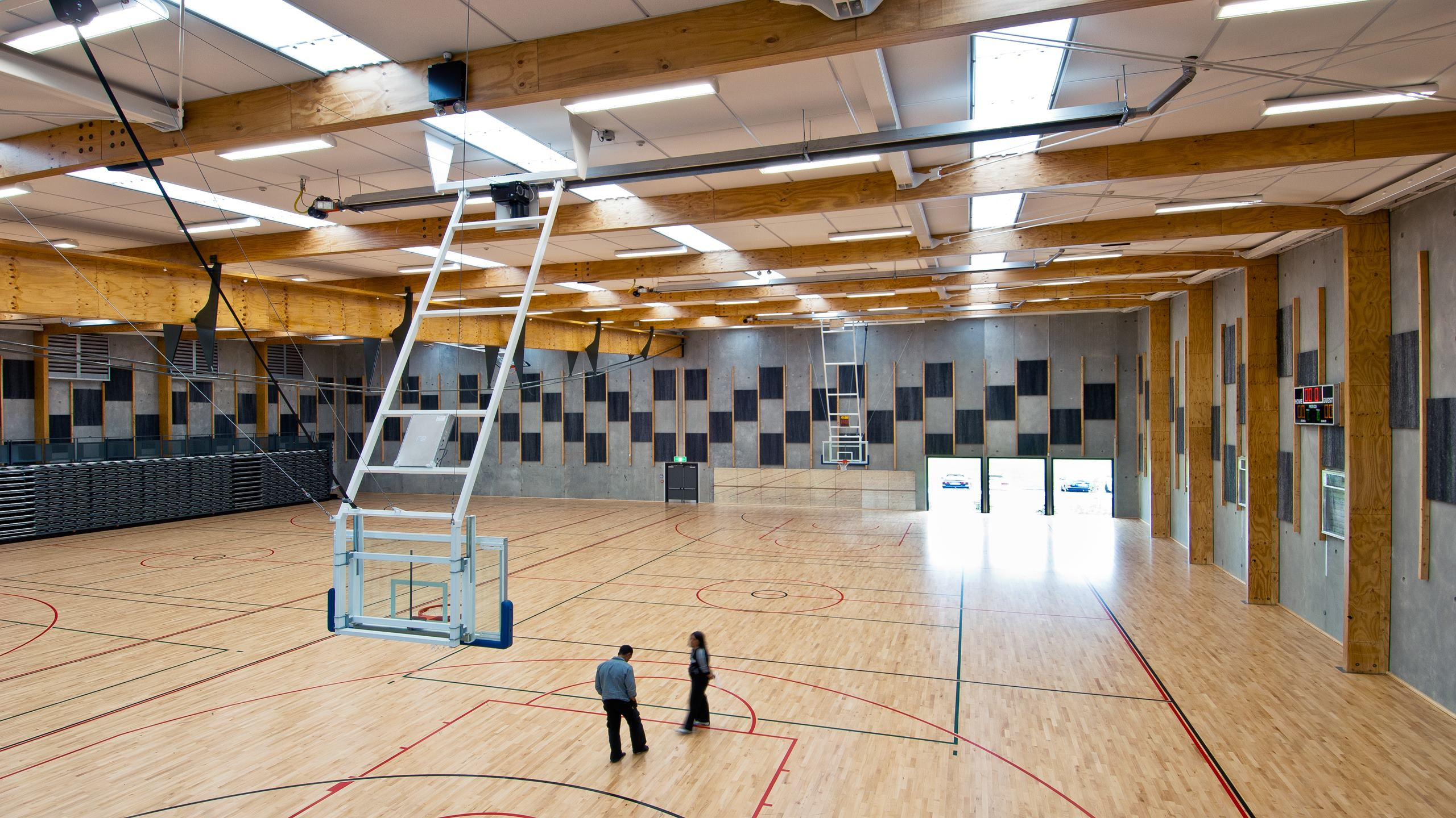 Nga Purapura Sports Centre - Over sized Triton 40 Sports panels