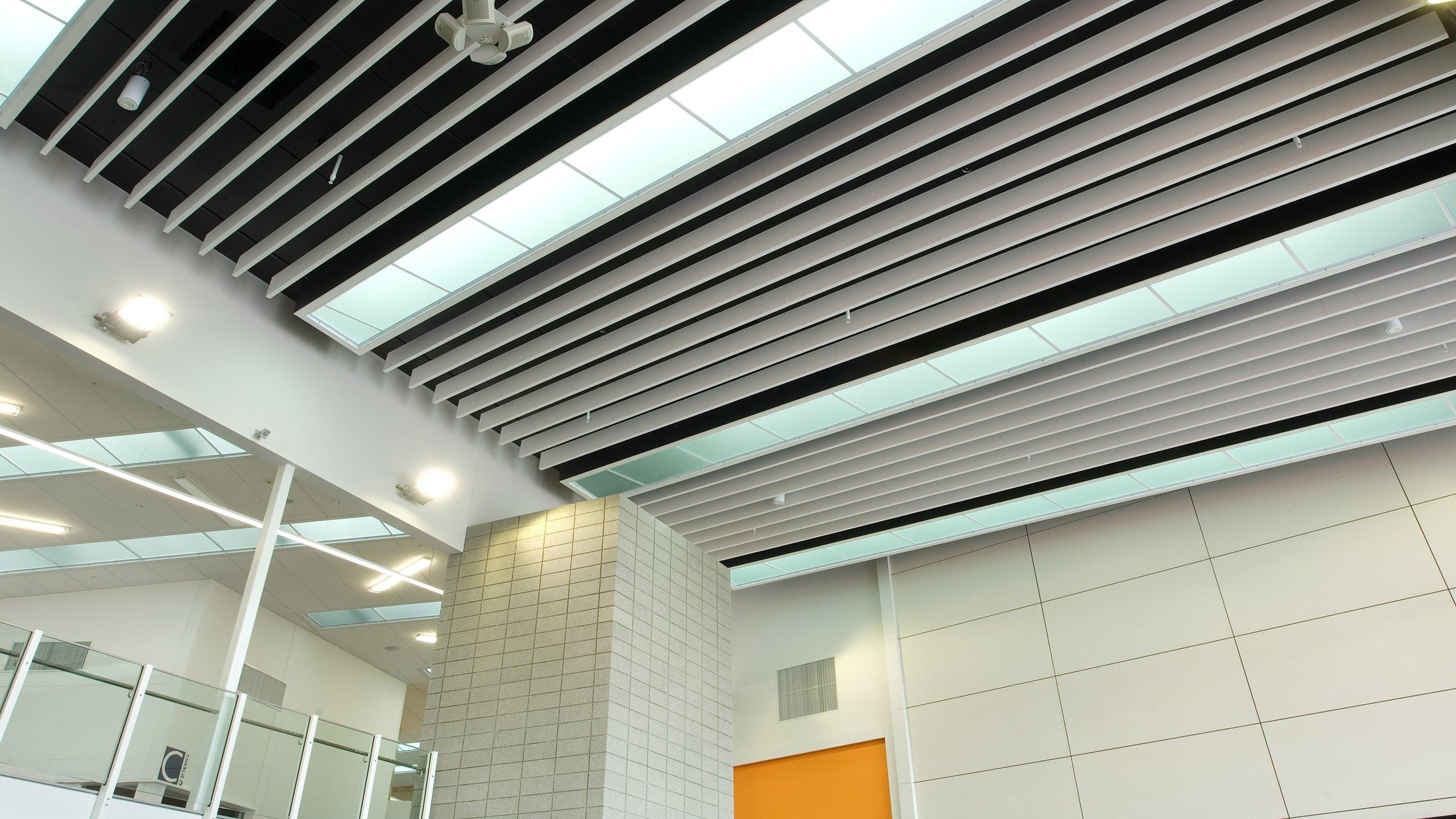 Hobsonville Secondary School Atrium - Baffle Beam